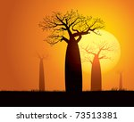 tranquil sunset scene in... | Shutterstock .eps vector #73513381