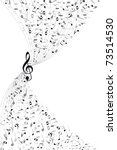 music notes background | Shutterstock . vector #73514530