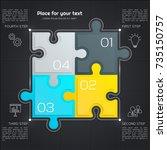 modern business infographic for ... | Shutterstock .eps vector #735150757
