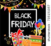 black friday. vector... | Shutterstock .eps vector #735151057