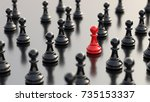 leadership  success  and... | Shutterstock . vector #735153337