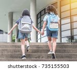 back to school education... | Shutterstock . vector #735155503