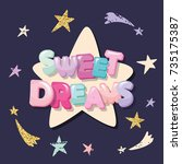 sweet dreams cute design for... | Shutterstock .eps vector #735175387