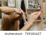 courses for hairdressers... | Shutterstock . vector #735181627