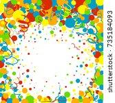 raster colorful confetti...   Shutterstock . vector #735184093