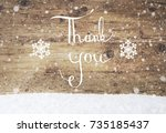 white english calligraphy thank ...   Shutterstock . vector #735185437
