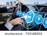 futuristic interface of... | Shutterstock . vector #735188503