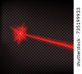 abstract red laser beam. laser... | Shutterstock .eps vector #735199933