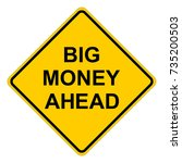 big money ahead  yellow square... | Shutterstock .eps vector #735200503