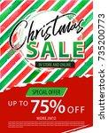 christmas sale banner. vector... | Shutterstock .eps vector #735200773