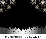 a crowd and snow | Shutterstock .eps vector #735212857