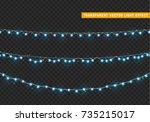 christmas lights isolated... | Shutterstock .eps vector #735215017