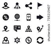 16 vector icon set   pointer ...   Shutterstock .eps vector #735215407