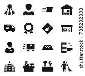 16 vector icon set   share ... | Shutterstock .eps vector #735232333
