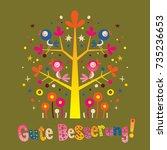 gute besserung   get well soon... | Shutterstock .eps vector #735236653