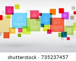 vector diagram with various... | Shutterstock .eps vector #735237457