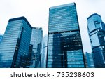 directly below of modern... | Shutterstock . vector #735238603