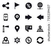 16 vector icon set   share ...   Shutterstock .eps vector #735239437