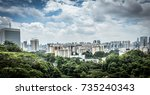 singapore city. | Shutterstock . vector #735240343