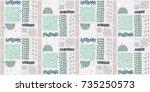 seamless african pattern....   Shutterstock .eps vector #735250573