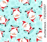 seamless pattern from happy... | Shutterstock .eps vector #735253507