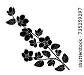 silhouette of apple or cherry... | Shutterstock .eps vector #735259297