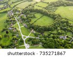 aerial view of buckinghamshire... | Shutterstock . vector #735271867