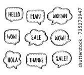 set of vector speech bubbles... | Shutterstock .eps vector #735272947