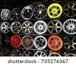 alloy wheels | Shutterstock . vector #735276367