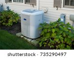 heating and air conditioning... | Shutterstock . vector #735290497