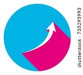 growing arrow sign. vector....   Shutterstock .eps vector #735295993