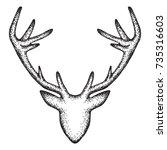 deer head  abstract design...   Shutterstock .eps vector #735316603