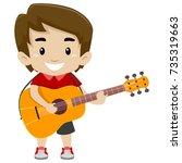 vector illustration of kid boy... | Shutterstock .eps vector #735319663