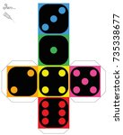 dice template   construction... | Shutterstock .eps vector #735338677