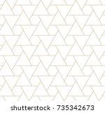seamless geometric triangle... | Shutterstock .eps vector #735342673