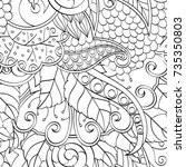 tracery seamless pattern....   Shutterstock .eps vector #735350803