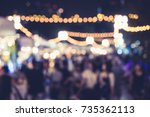 festival event party with... | Shutterstock . vector #735362113