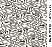 seamless pattern with linear... | Shutterstock .eps vector #735408313