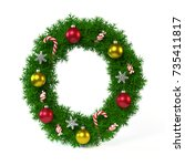 christmas font isolated on... | Shutterstock . vector #735411817