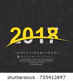 abstract creative 2018 new year ... | Shutterstock .eps vector #735412897