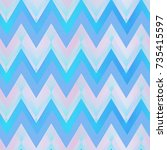 blue color zigzag seamless... | Shutterstock .eps vector #735415597