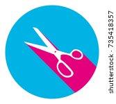 scissors sign illustration....   Shutterstock .eps vector #735418357