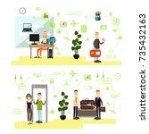 vector illustration of... | Shutterstock .eps vector #735432163