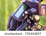 close up of man hand clicking...   Shutterstock . vector #735443857