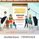 photo studio ad poster with...