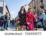 milan  italy   september 24 ... | Shutterstock . vector #735453577
