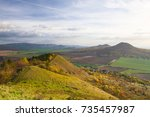 view from the top of rana hill. ... | Shutterstock . vector #735457987