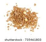 crunchy granola  muesli pile... | Shutterstock . vector #735461803