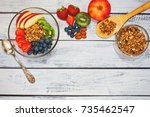 ingredients for fast and... | Shutterstock . vector #735462547