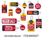 super sale extra bonus red... | Shutterstock .eps vector #735480007